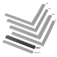 """Černá náběhová hrana """"samec"""" MF Safety Ramps D12/C1,2 Nitrile - 50 x 5 cm"""