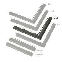"""Černá náběhová hrana """"samec"""" MF Safety Ramps D23/C23 - 100 x 6 cm"""