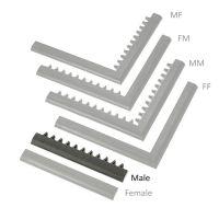 """Černá náběhová hrana """"samec"""" MF Safety Ramps D23/C23 - 50 x 6 cm"""
