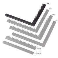 """Černá náběhová hrana """"samec"""" """"samice"""" MF Safety Ramps D12/C1,2 Nitrile - 100 x 5 cm"""