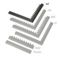 """Černá náběhová hrana """"samec"""" """"samice""""  MF Safety Ramps D23/C23 - 100 x 6 cm"""