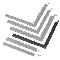 """Černá náběhová hrana """"samice"""" MF Safety Ramps D12/C1,2 Nitrile - 100 x 5 cm"""