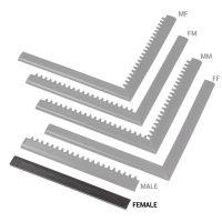 """Černá náběhová hrana """"samice"""" MF Safety Ramps D12/C1,2 Nitrile - 50 x 5 cm"""