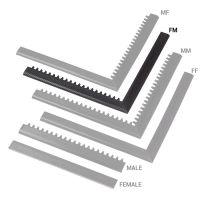 """Černá náběhová hrana """"samice"""" """"samec"""" MF Safety Ramps D12/C1,2 Nitrile - 100 x 5 cm"""