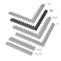 """Černá náběhová hrana """"samice"""" """"samec""""  MF Safety Ramps D23/C23 - 100 x 6 cm"""