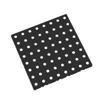 Černá plastová modulární dlaždice AT-STD, AvaTile - 25 x 25 x 1,6 cm