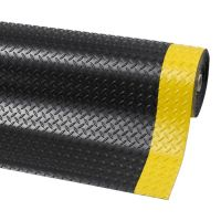 Černo-žlutá protiskluzová rohož Diamond Plate Runner - 2280 x 122 x 0,47 cm