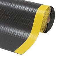 Černo-žlutá protiúnavová průmyslová laminovaná rohož Saddle Trax - 2280 x 122 x 2,54 cm