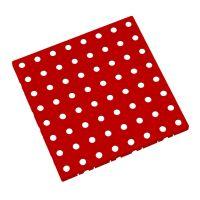 Červená plastová modulární dlaždice AT-STD, AvaTile - 25 x 25 x 1,6 cm