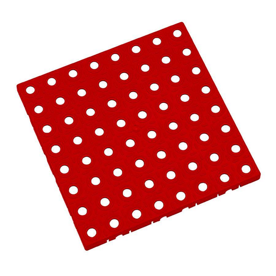 Červená plastová modulární dlaždice AT-STD, AvaTile - délka 25 cm, šířka 25 cm a výška 1,6 cm FLOMAT
