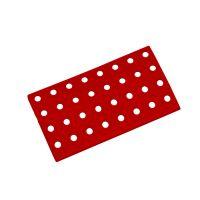 Červený plastový nájezd AT-HRD, AvaTile - 25 x 13,7 x 1,6 cm