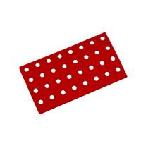 Červený plastový nájezd AT-STD, AvaTile - 25 x 13,7 x 1,6 cm
