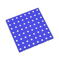 Modrá plastová modulární dlaždice AT-STD, AvaTile - 25 x 25 x 1,6 cm