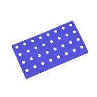 Modrý plastový nájezd AT-STD, AvaTile - 25 x 13,7 x 1,6 cm