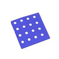 Modrý plastový roh AT-STD, AvaTile - 13,7 x 13,7 x 1,6 cm
