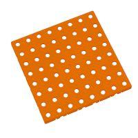 Oranžová plastová modulární dlaždice AT-STD, AvaTile - 25 x 25 x 1,6 cm