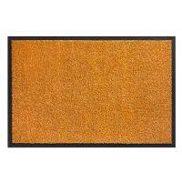Oranžová vnitřní vstupní čistící pratelná rohož Twister - 60 x 80 cm
