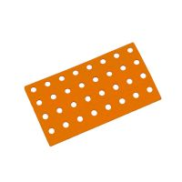 Oranžový plastový nájezd AT-STD, AvaTile - 25 x 13,7 x 1,6 cm