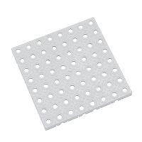 Šedá plastová modulární dlaždice AT-STD, AvaTile - 25 x 25 x 1,6 cm