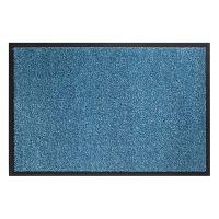 Tyrkysová vnitřní vstupní čistící pratelná rohož Twister - 80 x 120 cm