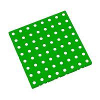 Zelená plastová modulární dlaždice AT-STD, AvaTile - 25 x 25 x 1,6 cm