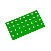 Zelený plastový nájezd AT-STD, AvaTile - 25 x 13,7 x 1,6 cm