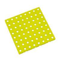 Žlutá plastová modulární dlaždice AT-HRD, AvaTile - 25 x 25 x 1,6 cm