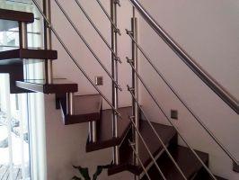 SLOUPEK zábradlí kulatý pro točitá a samonosná schodiště + vzpěra