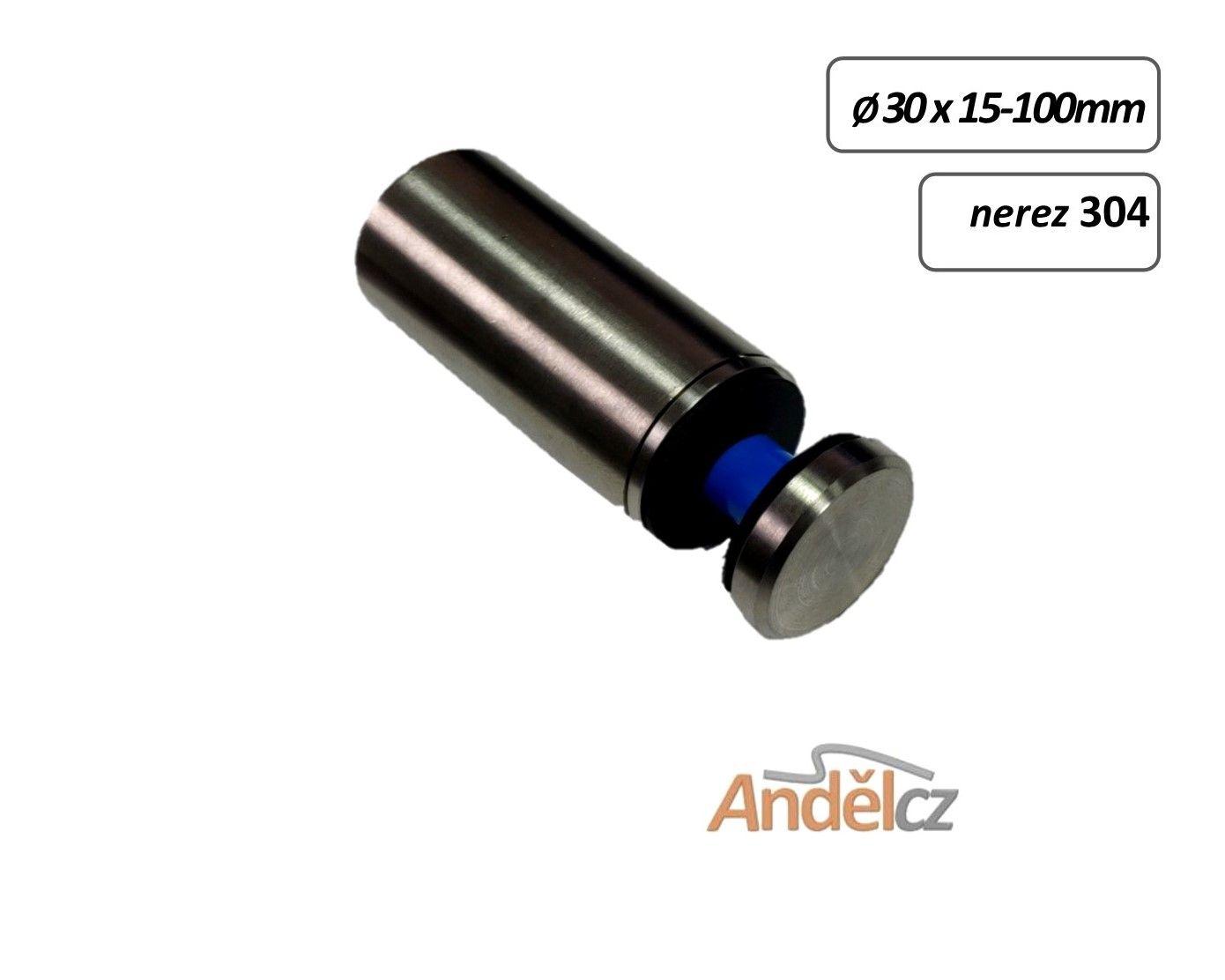 Držák skla bodový D30 - 15-100mm