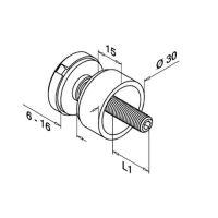 Držák skla bodový D30/M8x30mm