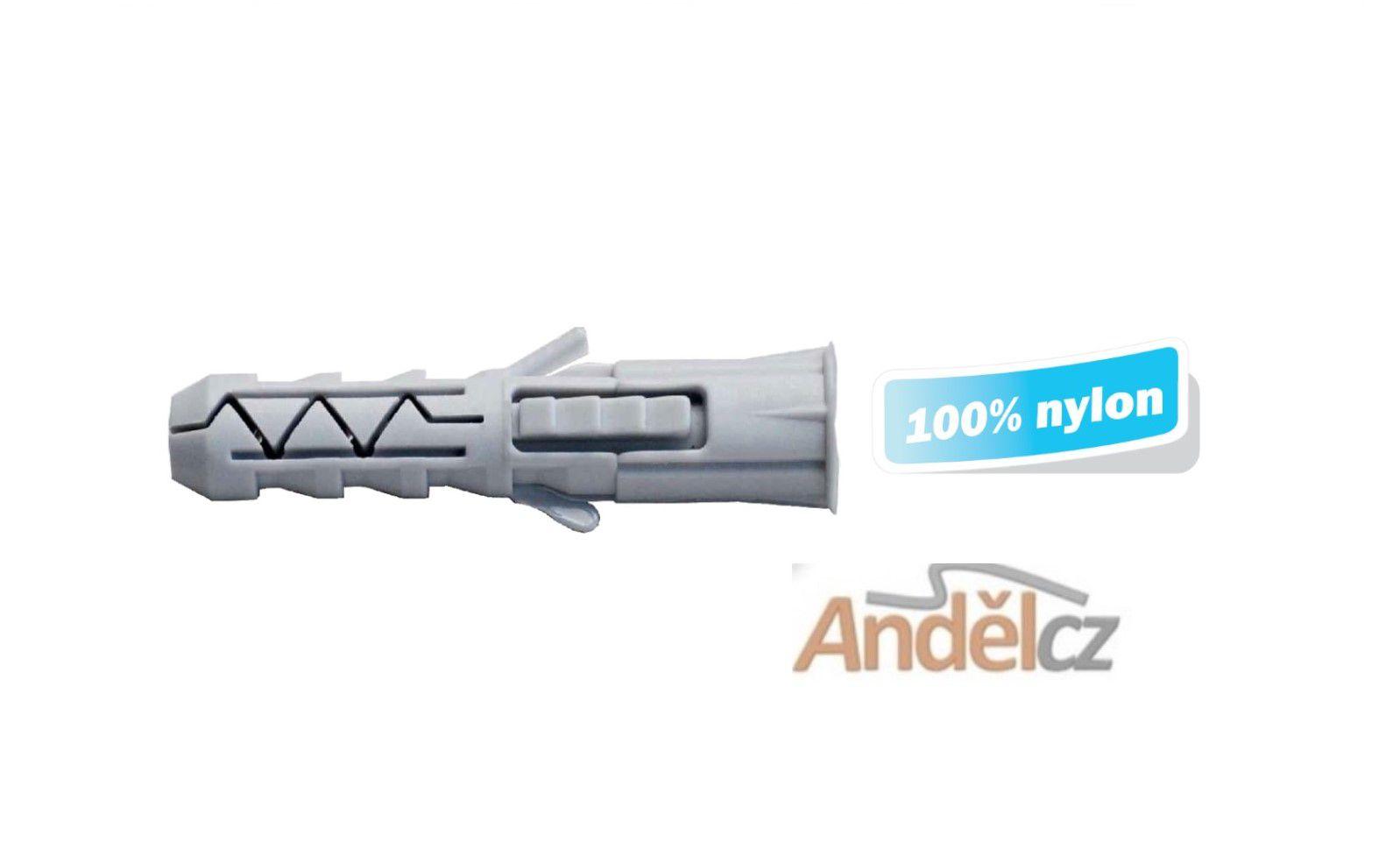 Hmoždinka nylonová stavební KNX-12x80 s trojnásobným rozepřením