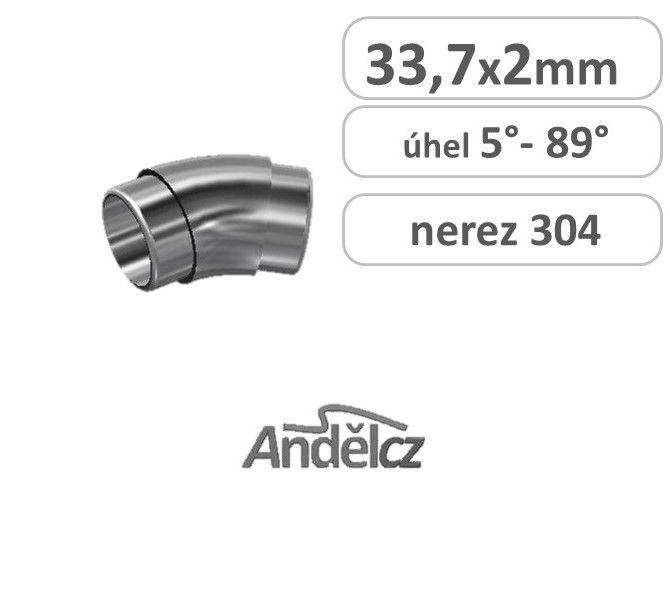 Koleno nerez oblouk 33,7x 2 5°až 89°