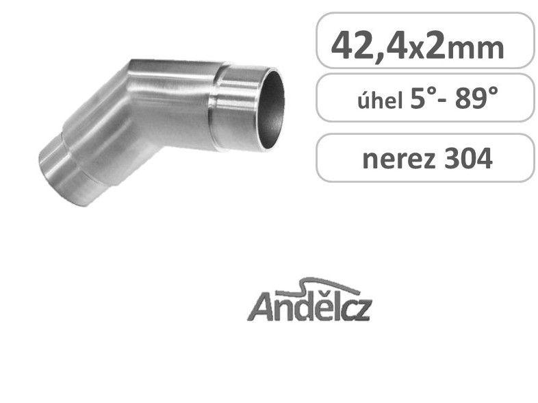 Koleno ostré nerez Roh 42,4 x 5°až 89°