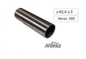 MADLO trubka nerezové  D42,4mm  - délka od 20 do 600 cm přebroušená