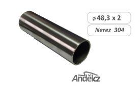 MADLO trubka nerezové  D48,3 x2 mm  - délka od 20 do 600 cm