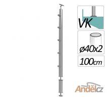 Zobrazit detail - SLOUPEK zábradlí kulatý pro točitá a samonosná schodiště + vzpěra
