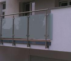 SLOUPEK zábradlí pro galerii sklo - boční kotvení