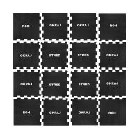 Černá pryžová modulární fitness deska (okraj) SF1050 - délka 47,8 cm, šířka 47,8 cm a výška 1 cm FLOMAT