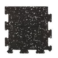 Různobarevná pryžová (10% EPDM STANDARD) modulární fitness deska (okraj) SF1050 - délka 95,6 cm, šířka 95,6 cm a výška 1,6 cm FLOMAT