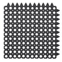 Černá gumová vstupní čistící modulární rohož na hrubé nečistoty Master Flex, D23 - délka 50 cm, šířka 50 cm a výška 2,3 cm FLOMAT