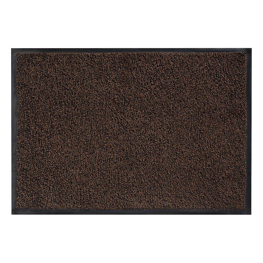 Hnědá vnitřní vstupní čistící pratelná rohož Magic - délka 75 cm a šířka 85 cm FLOMAT