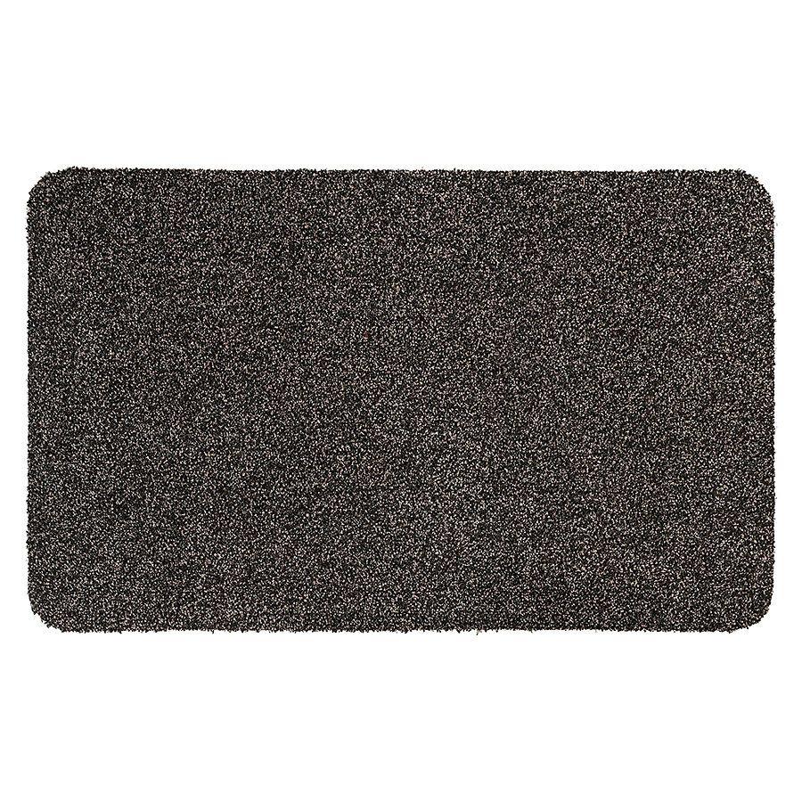 Hnědá vnitřní vstupní čistící pratelná rohož Majestic - délka 60 cm a šířka 100 cm FLOMAT