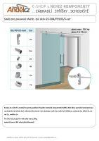 Sada pro posuvné dveře- tyč sklo GS-304/P9102