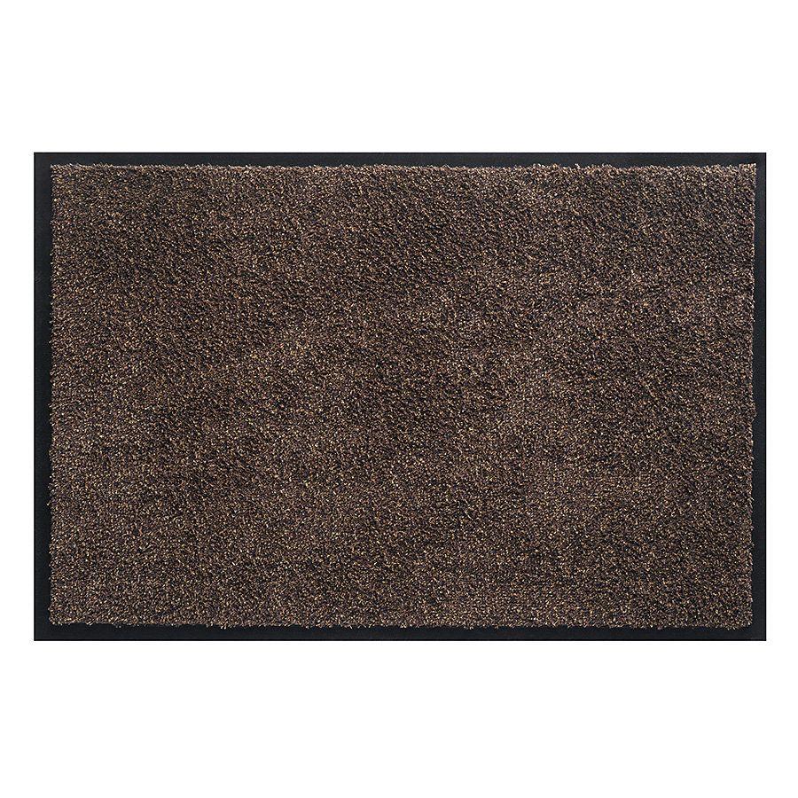 Tmavě hnědá vnitřní vstupní čistící pratelná rohož Watergate - délka 50 cm a šířka 80 cm FLOMAT