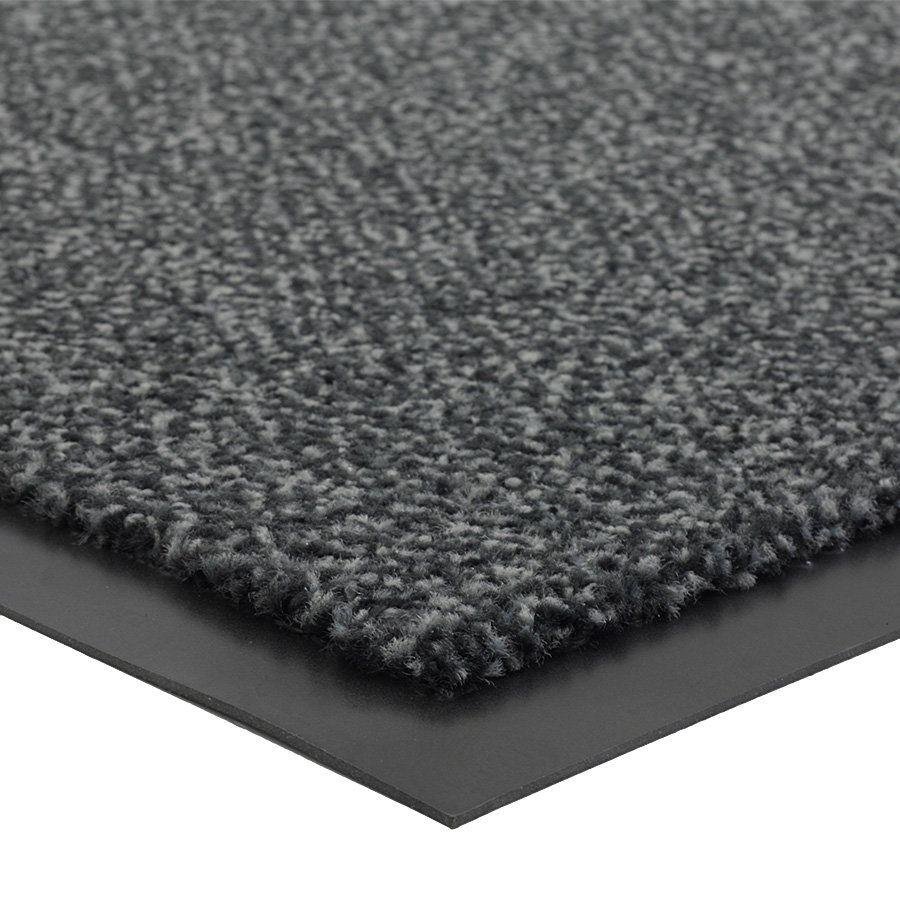 Antracitová vnitřní vstupní čistící rohož Portal (Cfl-S1) - délka 60 cm, šířka 90 cm a výška 0,75 cm FLOMAT