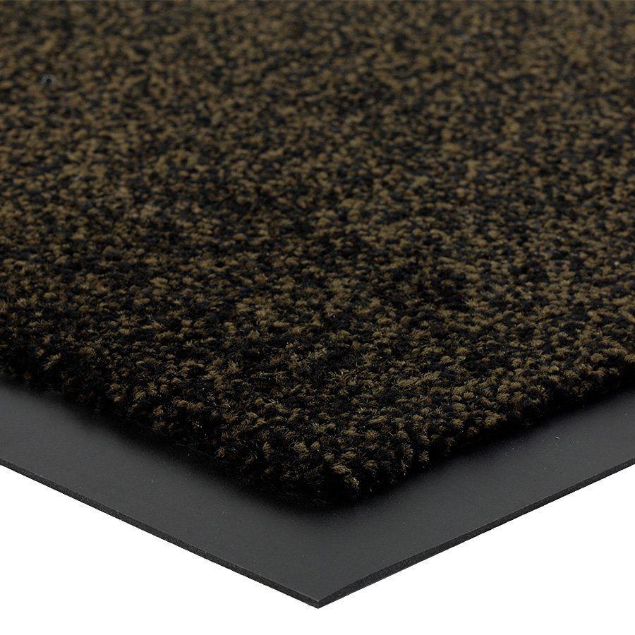 Hnědá vnitřní vstupní čistící rohož Briljant (Bfl-S1) - délka 60 cm, šířka 80 cm a výška 0,9 cm FLOMAT