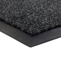 Černá textilní vstupní vnitřní čistící zátěžová rohož Catrine, FLOMAT - délka 50 cm, šířka 80 cm a výška 1,35 cm
