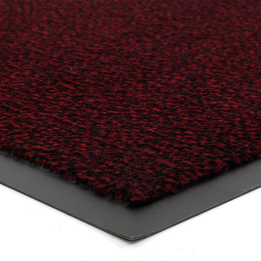 Červená vnitřní vstupní čistící rohož Mars - délka 120 cm, šířka 180 cm a výška 0,5 cm FLOMAT