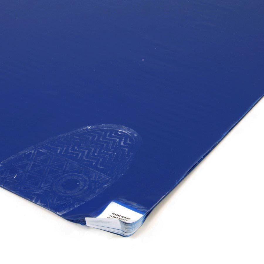 Modrá lepící dezinfekční dekontaminační rohož FLOMA - délka 115 cm a šířka 45 cm - 60 listů FLOMAT