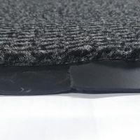 Šedá textilní čistící vnitřní vstupní rohož - délka 90 cm, šířka 150 cm a výška 0,7 cm FLOMAT